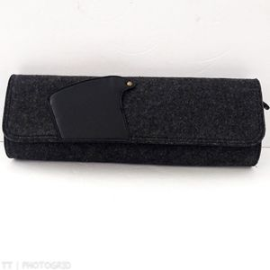 NWOT Hobo The Original dark gray wool clutch